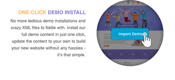 kidsworld-one-click-demo-install-features